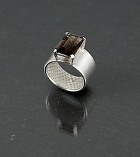 Snake Skin Ring With Smoky Quartz by Rachel Atherley (Silver & Stone Ring)