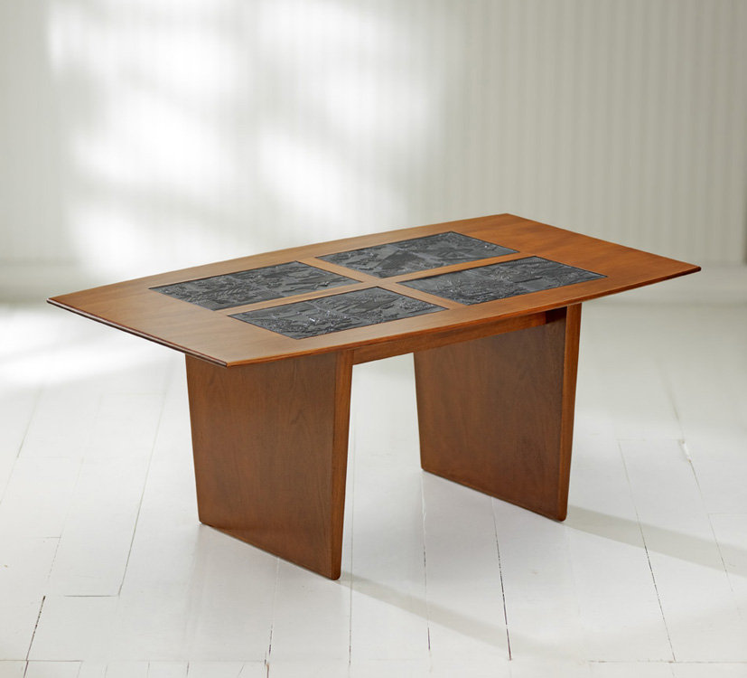 Mystic Coffee Table With Printing Block Inserts By Ken Reinhard Wood Coffee Table Artful Home