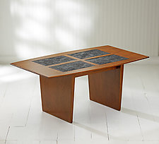 Mystic Coffee Table with Printing Block Inserts by Ken Reinhard (Wood Coffee Table)