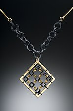 Spiderweb by Hilary Hachey (Gold & Silver Necklace)