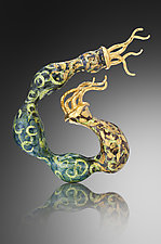 Regal Wind Brooch by Shana Kroiz (Enameled Brooch)
