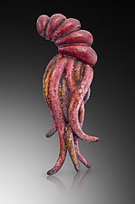 Regal Squid Brooch by Shana Kroiz (Enameled Brooch)