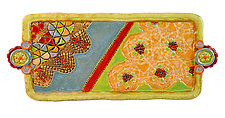 Large Tray Harlequin by Laurie Pollpeter Eskenazi (Ceramic Tray)