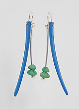 Blades by Ayala Naphtali (Silver, Stone, & Wood Earrings)