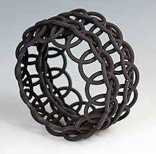 Linked Loops Bangle by Maria  Eife (Nylon Bracelet)