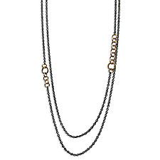 Double Stitch Chain Necklace by Alice Roche (Gold & Silver Necklace)