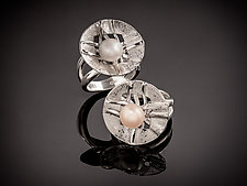 The Woven Pearl Rings by Chi Cheng Lee (Silver & Pearl Ring)