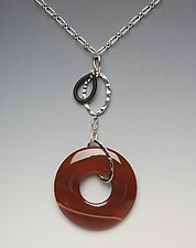 Carnelian Necklace by Lonna Keller (Silver & Stone Necklace)