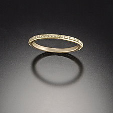 Tiny Raised Dot Band by Ananda Khalsa (Gold Wedding Band)