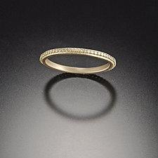 Tiny Raised Dot Band by Ananda Khalsa (Gold Wedding Band)