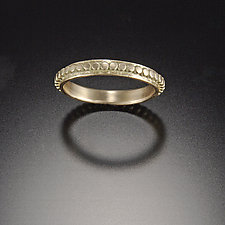 Gold Raised Dot Band by Ananda Khalsa (Gold Wedding Band)