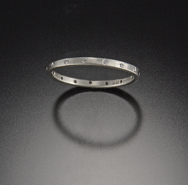 Hammered Band with Eternity Diamonds