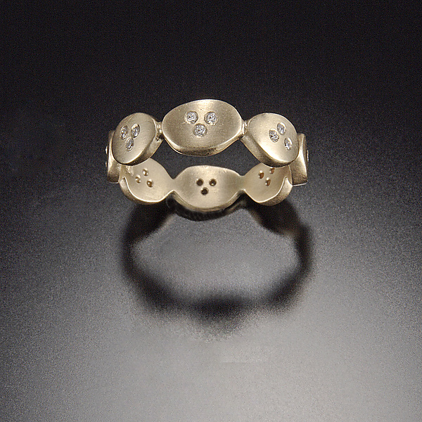 Small Ovals Band with Diamonds