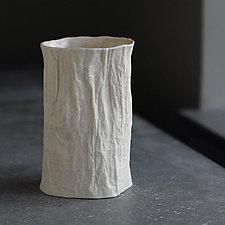 Vertical Vellum Tumbler by Clementine Porcelain (Ceramic Tumbler)