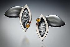 Leaf Earrings by Kristen Lee (Silver & Stone Earrings)