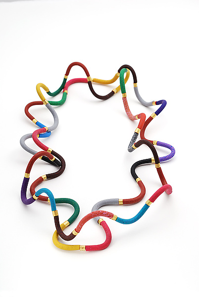 Multi-Colored Squiggle Necklace