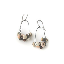 Oval Shoe Button Earring by Connie Verrusio (Silver Earrings)