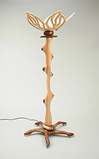 Floor Lamp #4 by Charles Adams (Wood Floor Lamp)