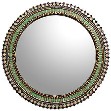 24'' Jade Bronze Mirror by Angie Heinrich (Art Glass Mirror)