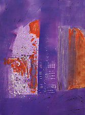 Middle Purple #1 by Sandra Humphries (Monotype Print)