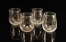Vino Breve Spumante - 4 Piece Set by Corey Silverman (Art Glass Cups)