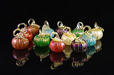 Pumpkin Garden - 12 Piece Set by Corey Silverman (Art Glass Sculpture)