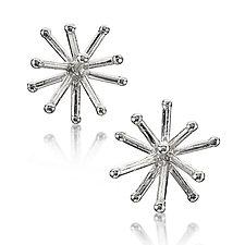 Silver Jacks Earrings by Wendy McAllister (Silver Earrings)