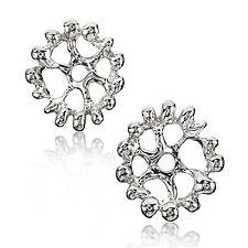 Silver Lotus Earrings by Wendy McAllister (Silver Earrings)