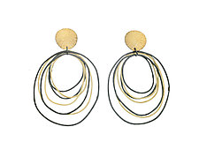 Ripple Post Earrings by Heather Guidero (Gold & Silver Earrings)