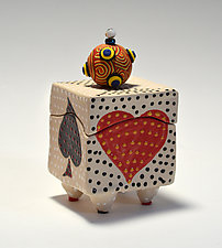 Playing Card Box by Vaughan Nelson (Ceramic Box)