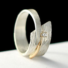 Circle of Love by Dagmara Costello (Gold, Silver & Stone Wedding Band)