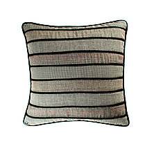 17'' Pillow in Black by Margo Petitti  (Wool Pillow)