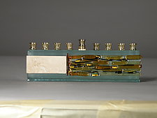 Icicle Collection Menorah by Alicia Kelemen (Art Glass Menorah)