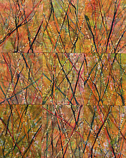 Birch Crossing by Nelda Warkentin (Fiber Wall Art)