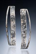 Dual Strip Earrings by Nina Mann (Gold & Silver Earrings)