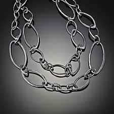 Long Multi Facet Neclace by Dahlia Kanner (Silver Necklace)