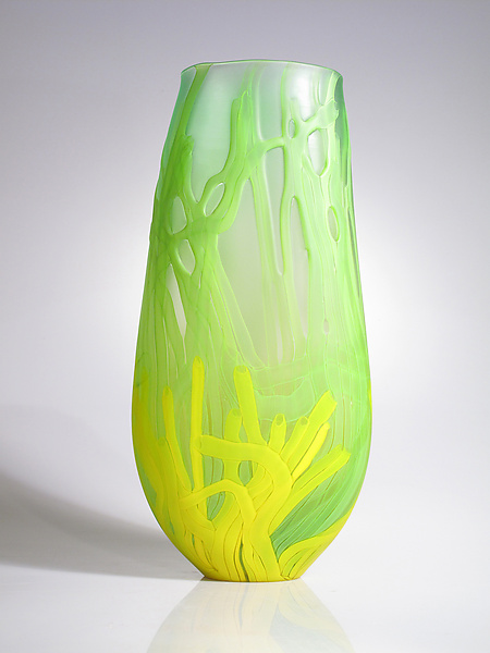Green Sea Fan Vase