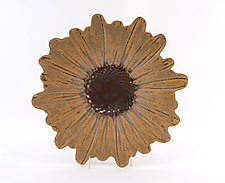 Sunflower Plate by Angelia Hayes (Ceramic Plate)