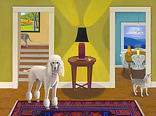The Dog House by Jane Troup (Oil Painting)