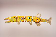 Articulated Barracuda by Jeanine Anderson Guncheon (Wood Wall Sculpture)