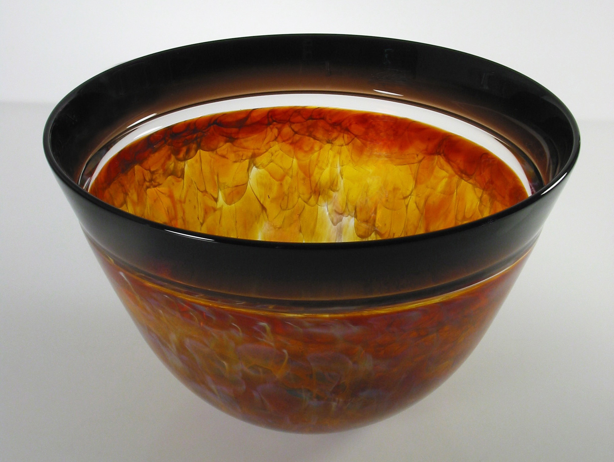 Topaz Bowl by David Leppla (Art Glass Bowl) | Artful Home