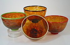 Small Safari Series Bowls by David Leppla (Art Glass Bowl)
