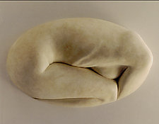 Fortune Cookie in Neutral by Tanya Ragir (Resin Wall Sculpture)