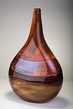 Alabaster Marble Tear Drop by Bryan Goldenberg (Art Glass Vessel)