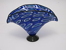 Mosaic Fan Shaped Vase by Bryan Goldenberg (Art Glass Vase)