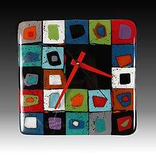 Splash Clock by Nina  Cambron (Art Glass Clock)