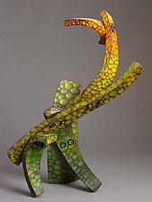 Leafy Construction by Michael Bauermeister (Wood Sculpture)