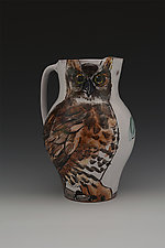 Owl Pitcher by Eileen de Rosas (Ceramic Pitcher)