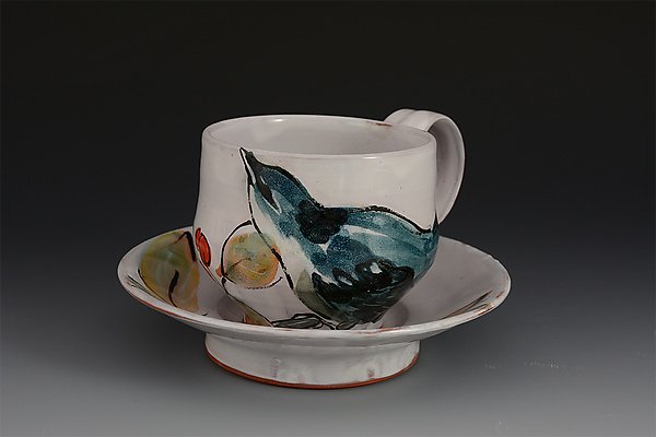 Cerulean Warbler Cup and Saucer