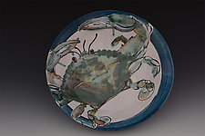 Blue Crab Serving Bowl by Eileen de Rosas (Ceramic Plate)